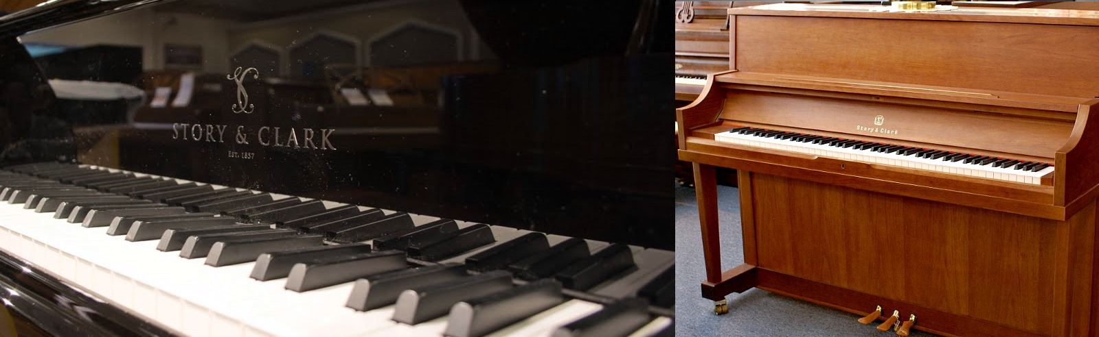 Essex grands and upright entry level pianos...