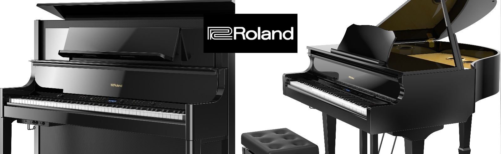 Roland grands, digital grands & uprights, digital stage pianos...