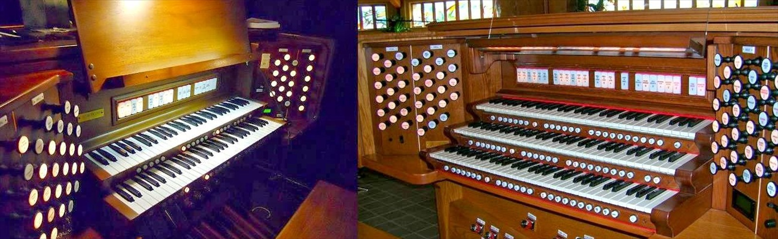 Rodgers church, studio, and home organs...